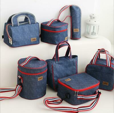 Functional Insulated Lunch Box Bag Picnic Zip Pack Waterproof Storage Pouch New