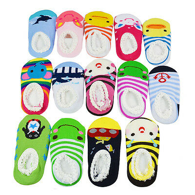 6-24 Months Baby Kids Girl Boy Lovely Anti-Slip Socks Shoes Slipper