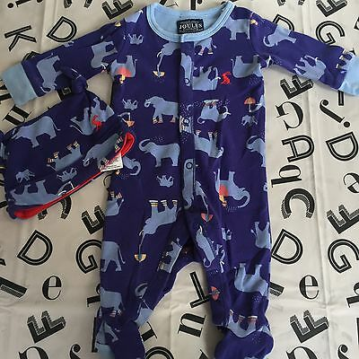 Baby Joule Boys Sleepsuit And Hat 0-3 Months