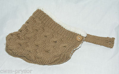 Vintage 1950s / 60s Child's Pixie Type Hand / Cable Knitted Hat