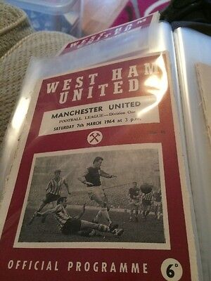 West Ham V Manchester United 63/64