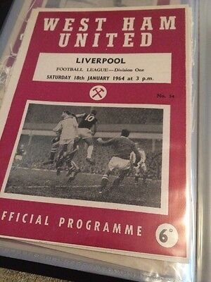 West Ham V Liverpool 63/64