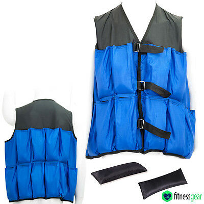Adjustable Weighted Vests Jacket Strength Training Running Weight Loss Gym 10kg
