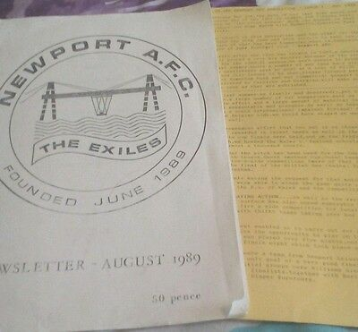 Newport AFC newsletters 1989 & 1990
