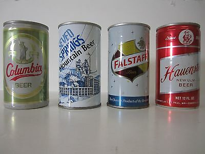 Beer cans lot of Four (4) Seved Springs Falstaff Havenstein Columbia