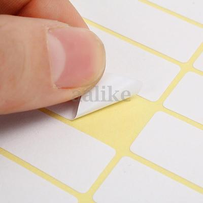 56 13x38mm White Sticky Labels Price Stickers Tags Blank Self Adhesive 15 Sheets
