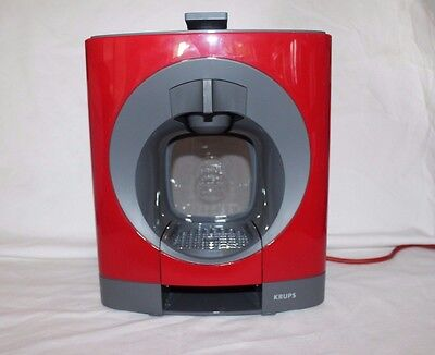 NESCAFE Dolce Gusto Oblo Manual Coffee Machine by Krups - Red