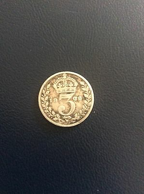 1908 Silver 3 Pence