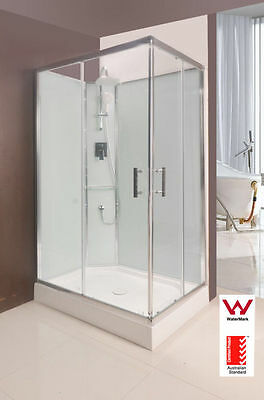 Shower Cubicle With Glass Wall 1200X800X2200Mm New