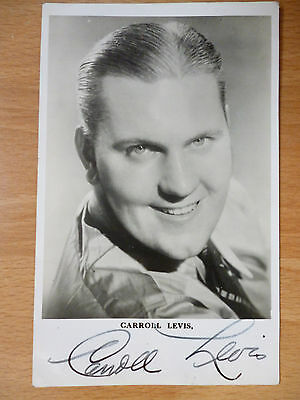 Signed Postcard Carroll Levis Television And Radio Personality