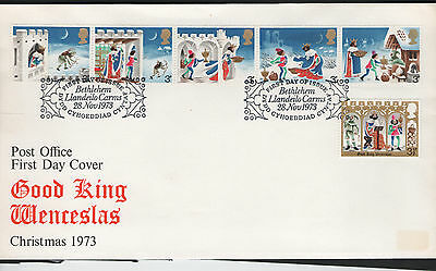 GB First Day Cover 1973. Christmas - Bethlehem