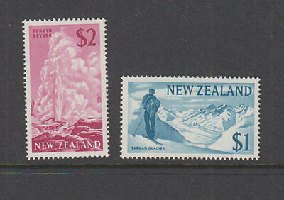 NEW ZEALAND 1967 $1, $2 Definitives -Auck City Stamps Cat $50 MUH (2)