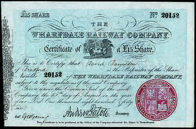 Wharfdale Railway Co., £15 share, 1846, attractive, AEF