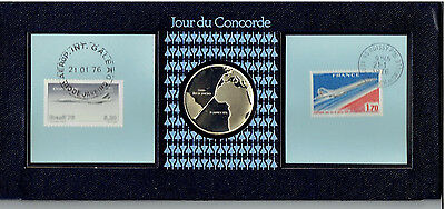 day of the concorde/jour du concorde/solid silver coin