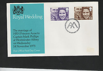GB First Day Cover 1973. Royal Wedding - Westminster Abbey