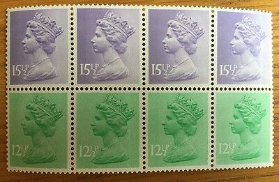Mint Machin Definitive Stamps Pane Of
