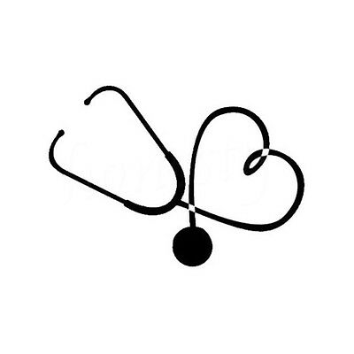 On The Heart Of A Nurse Doctor Stethoscope Love Stylish Car Sticker Vinyl Decal