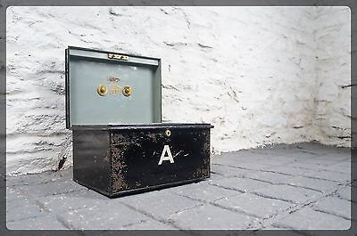 Antique Deed Box with Brass Handle - Notation Letter A - Unique Gift / Storage