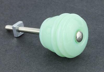 "WHOLESALE LOT 10 Jadeite Green Milk Glass KNOBS 1-1/8"" FREE EXPEDITED Shipping"