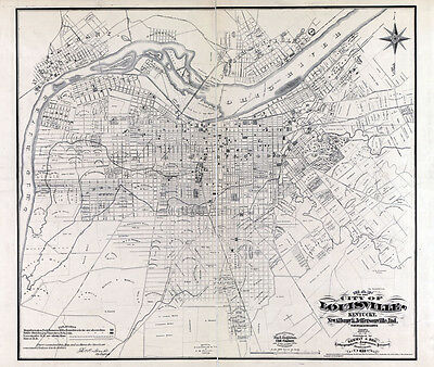 1873 Map of the City of Louisville Kentucky