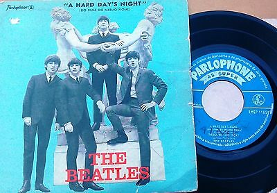 """# Beatles A HARD DAY'S NIGHT PORTUGAL '64 EP 4 Tracks Megarare 7""""-R00077"""
