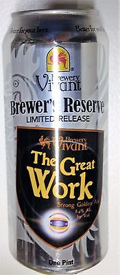 Great Work 2015 Brewer's Reserve 16 oz alum beer can Vivant Brewery Grand Rapids