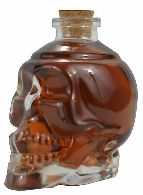 Glass Skull Decanter - FILL it UP w/ Wine, Beer or Liquor