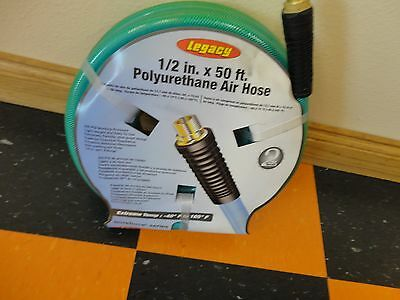 NEW Legacy Polyurethane Air Hose 1/2 x 50FT with 3/8 MNPT (3/8 male pipe ends)