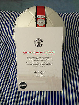 2014-15 Man Utd Football Signed by Squad
