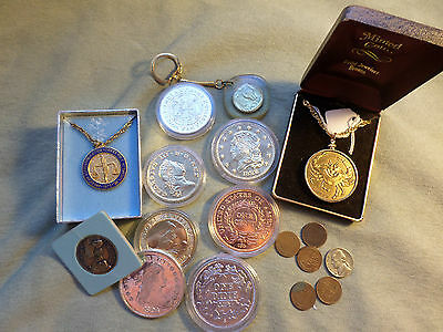 17 pc lot vtg coins & tokens 1943 P nickel wheat pennies coin collectables cert