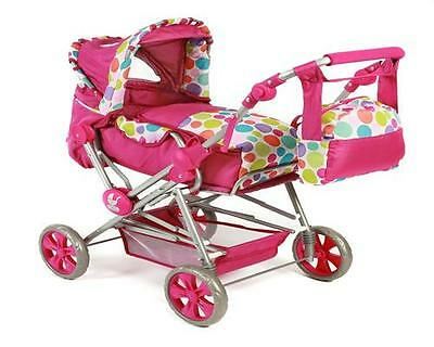 Chic 2000 Super Kombi Puppenwagen Road Star Pinky Bubbles 56217