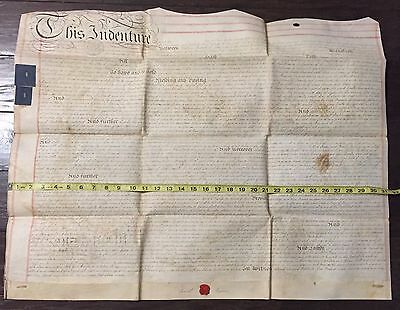 RARE 1785 VELLUM Land Indenture in LONDON during REIGN KING GEORGE III Hogarth