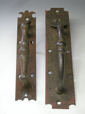 Two Antique Norfolk Wrought Iron Thumb Latches, 19th c. New England, AAFA NR