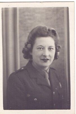 Original 1945 Snapshot Photo of a Woman in the ATS