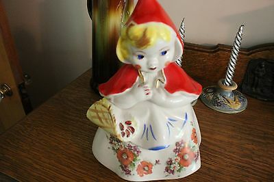 RARE Vintage Little Red Riding Hood Cookie Jar 4 Poppies
