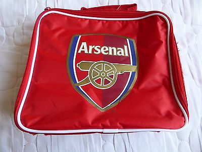 Official ARSENAL Red Rectangular Insulated School/Lunch/Picnic Cool Bag