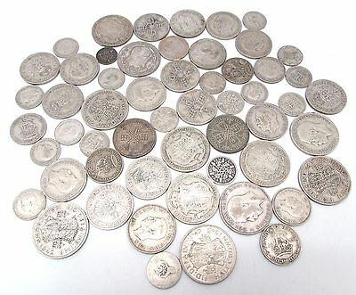 George V & George VI Mixed Denomination Pre 1947 Silver Circulated Coins - 450g