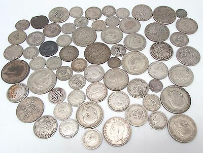 George V & George VI Mixed Denomination Pre 1947 Silver Circulated Coins - 430g