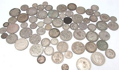 George V & George VI Mixed Denomination Pre 1947 Silver Circulated Coins - 530g