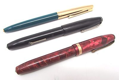 3 x Vintage CONWAY STEWART 15, 69 & 84 Lever Filler & Aerometric Fountain Pens