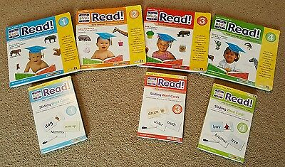 Your Baby Can Read Books Volume 1-4 Sliding Word Cards Volumes 1, 3, & 4