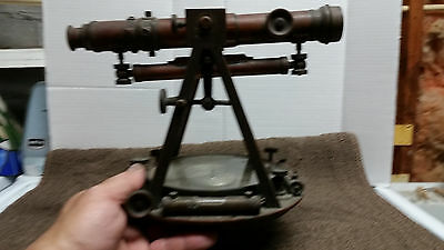 ANTIQUE GURLEY NY BRASS SURVEYOR'S TRANSIT with COMPASS, c. 1870 or so