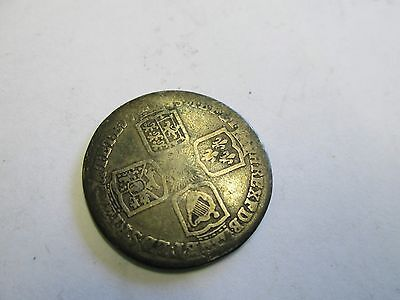 1745  ? Lima Shilling silver coin George II
