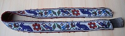 Traditional Collectible Antique Russian Micro Beaded Beadwork Handmade Belt #6