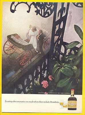 "Evening that memories are made of, 1969 Drambuie Liqueur Magazine Ad, ""Carriage"""