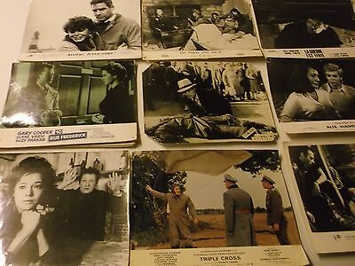 lot GUERRE ESPIONNAGE * LOBBY CARDS * anciennes photos * cinema * exploitation