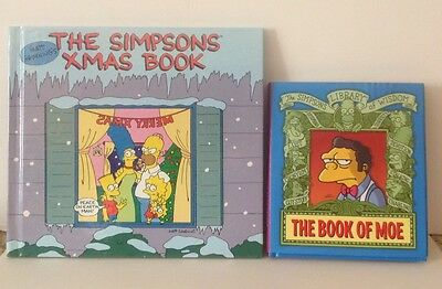 The Simpsons Xmas Book And The Book Of Moe