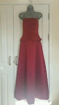 Bella Formals Red Evening/Prom/Bridesmaid Dress Size 8