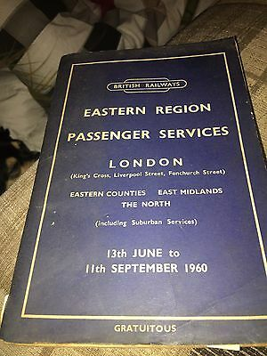 london railway 1960 Time Table Book With Map
