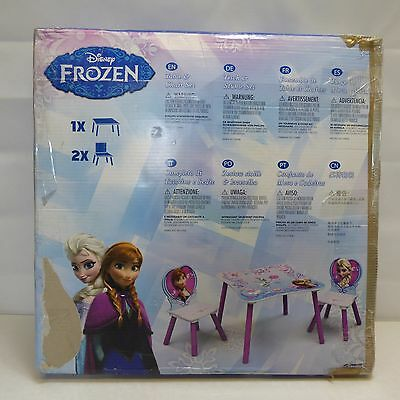 New Delta Children Disney Frozen Kids Wooden Table & Chairs Set For Playroom